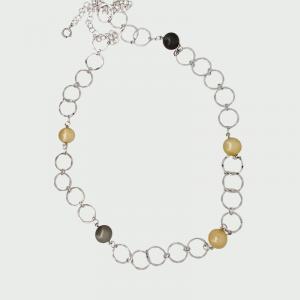 S/S R/P Gold & Black South Sea Pearl Necklace 13mm 5pcs
